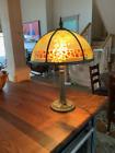 Antique bradley hubbard  reverse painted lamp