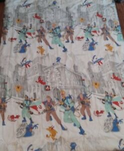 """Vintage 1986 Twin Size Ghostbusters Comforter 84"""" X 60"""" 1980s blanket bedding"""