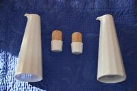 Rosenthal Studio Line Polygon weiß 1 Essig- /1 Ölkännchen H 21 cm