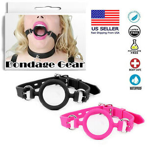 Soft Silicone O-Ring Gag Breathable Bondage Mouth Spreader Restraint Sex Toy USA
