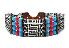 Handmade Traditional 4 Row Carved Buffalo Bone Hairpipe Tribal Choker Necklace