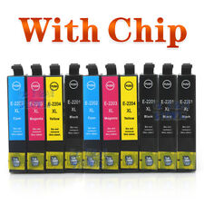 10x Ink Cartridge 220XL for Epson WF2630/2650/2660 XP420/220/320/324/424 Printer