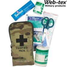 WEB-TEX ARMY SMALL FIRST AID KIT SURVIVAL DRESSING BANDAGE SCISSORS PINS MTP
