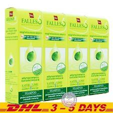 BSC FALLES Kaffir Lime Essence Hair Falls Shampoo Extra Soft Formula 180ml x 4