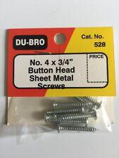 Du-bro No. 4x3/4 Button Head Sheet Metal Screws