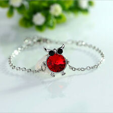 Fashion Charm Women Owl Rhinestone Silver Cuff Bracelet Bangle Jewelry S1