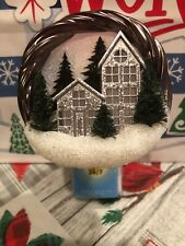NEW Bath & Body Works Wallflowers HOLIDAY SCENIC WREATH Plug In NIGHTLIGHT