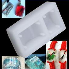 Rectangle Silicone DIY Mold Bracelet Pendant Jewellery Making Mould Resin Hole 1