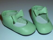 Lt Green Bow Shoes For K. Wiggs Hope, Layla, Miki, Nyssa & Other Msd Size Girls