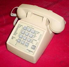 Cortelco 250044-MBA-20F Desk Phone Telephone  w/ Flash Vintage ASH Beige