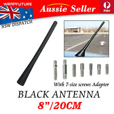 "20cm Stubby Bee Antenna Car Roof Radio AM/FM 8"" Short Aerial Mast With 7 Adapter"