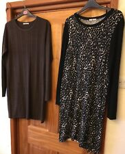 Tu Brown Jumper And Black And White jumper/Dress Both  Size 12/14