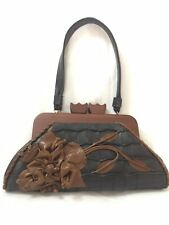 Anthony Luciano Black And Brown Leather Bag Purse