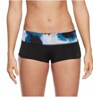 NIKE Womens Swimwear Cascade Active Multi Color Colour Block Swim Shorts Size L