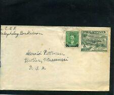 PHILIPPINES,- Miss PEREZ,-cover To Mr. PITTMAN,-BUTLER, MISSOURI   U.S.1951