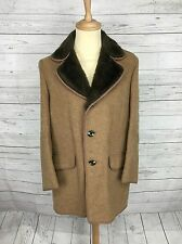 """Men's Dunn & Co Vintage Wool & Cashmere Overcoat - XL 46"""" - Great Condition"""