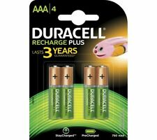 DURACELL HR03/DC2400 AAA NiMH Rechargeable Batteries - Pack of 4 - Currys