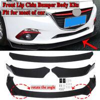 Universal Car Front Bumper Lip Chin Spoiler Splitter Body Kit For BMW Honda Ford