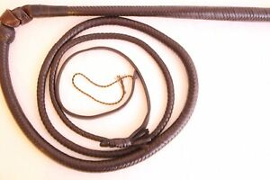 Australian 6 Ft Stock Whip,12 Plaited, Genuine Leather, Heavy Duty Stockwhip