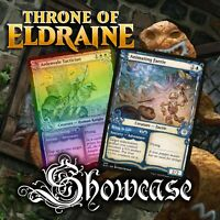 The Gathering * Throne of Eldraine Showcase Frame Magic Beanstalk Giant