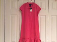 NWT! RALPH LAUREN PINK POLO DRESS GIRLS L/12 $55.00+ MUST SEE!