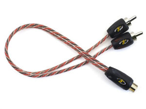 Stinger Pro 4000 Series 2 Male/1 Female Y Splitter RCA Interconnect Cable SI42YM