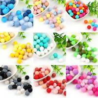 20Pcs Safe Baby Teething Round Silicone Beads DIY Teether Jewelry Bracelet Toy