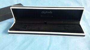 Bracelet Watch Jewellery Box Black & White Monza Jewelry Box 22x5.5cm Padded