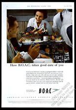 1956 BOAC B.O.A.C. British Airways stewardess steward photo vintage UK print ad