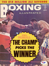 Joe Frazier Autographed Signed Boxing Illustrated Magazine Cover PSA/DNA S48460