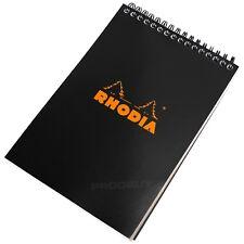 1 x A5 Rhodia Espiral 160 página Forrado Papel Notebook Memo Oficina nota Pad Negro