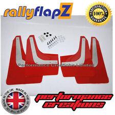 rallyflapZ HONDA CIVIC TYPE R FN2 (05-11) Mud Flaps Mudflaps Red 4mm PVC