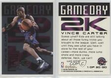 1999 Skybox Dominion GameDay 2K 1GD Vince Carter Toronto Raptors/UNC HOF
