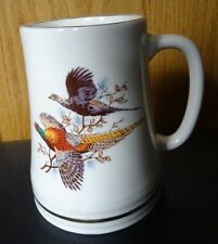 Pottery Tankard with Pheasant Design