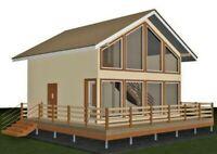 House plan, gable roof, PDF, Area: 116,86 m2.