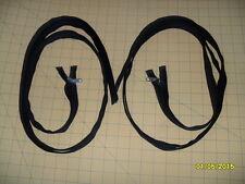 "82"" YKK Nylon Coil SEPARATING Zipper (Black in Color) - Lot of 2"