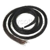 1 Hank Violin Bow Hair Black For Viola Violin 1 Hanks of Mongolian Stallion Bow