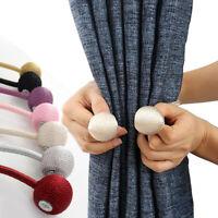 1pc Creative Magnetic Holdbacks Ball Curtain Hooks Rope Backs Buckle Tie Home