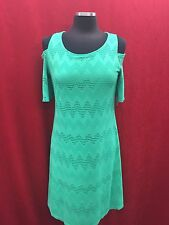 NINE WEST DRESS/COLD SHOULDER/NEW WITH TAG/RETAIL 18/CELEDON/LENGTH 41""