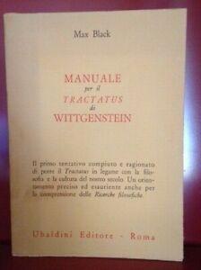 Max Black, Manuale per il Tractatus di Wittgenstein. Ricerche filosofiche 1967