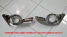 TOYOTA SIENTA 2016-17 CHROME FOG LAMP COVER SET OF 2 PC LH + RH