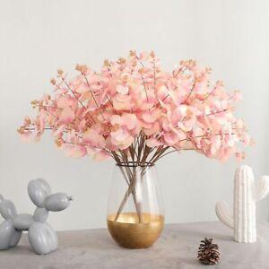 20 Heads Artificial Eucalyptus Flowers Bunch Bouquet Wedding Party Home Decor