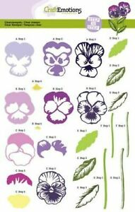 Craft Emotions A5 Layered Clear Stamp Set - Sweet Violets - 2002 - Flowers