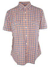 pizzarotti club camicia uomo quadri arancione taglia V xl extra large 40