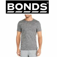 MENS BONDS GREY MICRO CREW TEE Tshirt Round Neck Short Sleeve Top  AYFHI S - XL