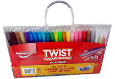 Crayons Twist Up Non Toxic High Quality Washable Twistable Crayons