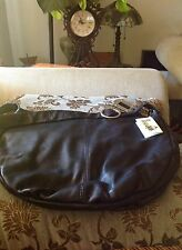 Alice & D Vera Pelle black leather purse, made in Italy