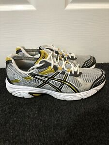 Mens ASICS PATRIOT Yellow / White Classic Running Trainers EU Size 44 / US 10
