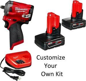 Milwaukee 2554-20 2555-20 2552-20 Impact Wrench Stubby 1/4 1/2 3/8 Build a Kit