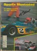 Al Unser Signed June 8 1970 Sports Illustrated Full Magazine Indy 500